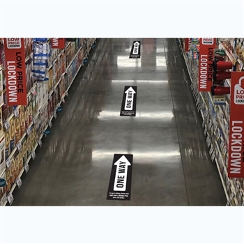 One Way Essential Floor Decal