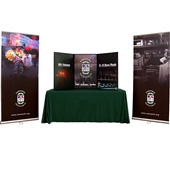 Breeze Medium Tabletop Display with Table Cover and Banner Stands