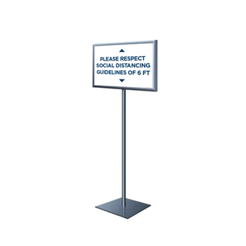 Perfex Sign Pedestal - Fixed