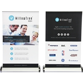 Mini Retractable Banner Stand with Graphic