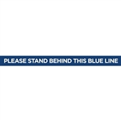 Please Stand Behind This Blue Line Essential Floor Decal