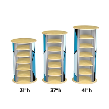 5-Up Medium Circle Twist Pedestal