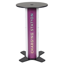 Round Twist Bar Table Charging Station