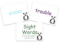 Sight Words Flashcards: First Grade Semester One