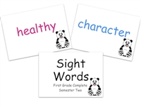 Sight Words Flashcards: First Grade Semester Two