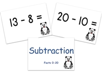 Subtraction Flashcards: Facts 0-20