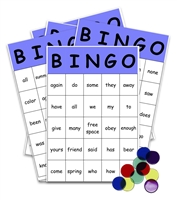 Sight Words Bingo Game: first grade level