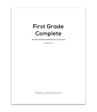First Grade Complete Student Refill Pages: Semester One