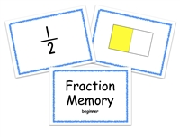 Fraction Memory Game: Beginning Level