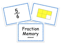 Fraction Memory Game: Advanced Level