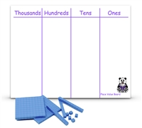 Place Value Board: Thousands, Hundreds, Tens, and Ones
