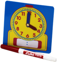 Clock and marker