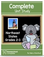 Homeschool Complete Unit Study: NE states