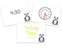 Telling Time Flashcards: to half hours