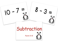 Subtraction Flashcards: Facts 0-10