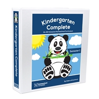 Kindergarten Complete Teacher's Manual (Including Student Workbook): Semester One