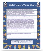 Second Grade Complete Bible Verse Chart Semester Two