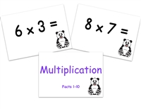 Multiplication Flashcards: Facts to 10