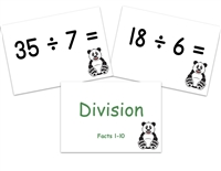 Division Flashcards: Facts to 10