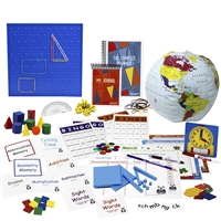 Third Grade resources:7 sets of flashcards, spelling squares, bingo games, pattern blocks, globe, clock, dice, geoboard, geosolids, square tiles, memory games, verse chart, hundred chart, number line, place value charts/base ten counting pieces, planner