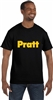 Pratt Hanes Men's 6.1 oz Tagless® T-Shirt - Black / White - Small