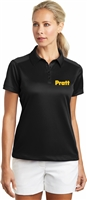 Nike Golf - Dri-FIT Pebble Texture Polo with Pratt Logo - Black / Gold - XX-Large