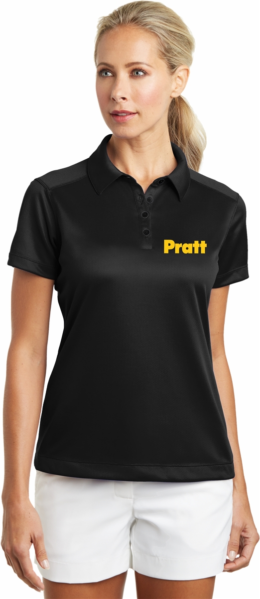 717d98d5 Nike Golf Women's Dri-FIT Pebble Texture Polo with Pratt Logo