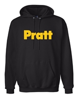 Pratt Ultimate Cotton Hooded Sweatshirt - Black / Black - Large