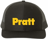Pratt Snapback Trucker Hat - Heather Grey & Black / Black - One Size