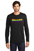Pride District Made® Men's Perfect Weight® Long Sleeve Tee - Black - Small