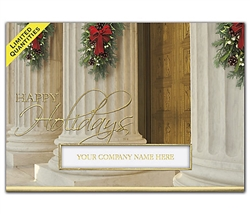 Holiday Pillar Attorney Legal Holiday Greeting Cards
