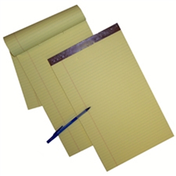 Left Ruled Canary Legal Size Legal Pads