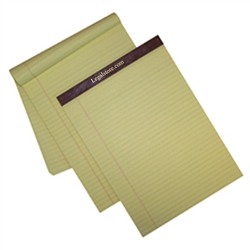 Left Ruled Canary Letter Size Legal Pads