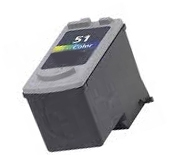 Canon 0618B002 (CL-51) Remanufactured Ink Cartridge - Tri-Color