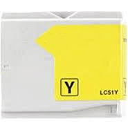 Brother LC51Y Remanufactured Ink Cartridge - Yellow