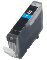 Canon 0621B002 (CLI-8C) Remanufactured Ink Cartridge - Ink Tank, Cyan