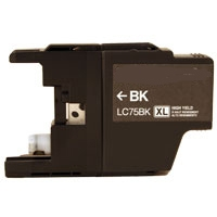 Brother LC71BK / LC75BK Remanufactured High Yield Ink Cartridge - Black