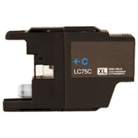 Brother LC71C / LC75C Remanufactured High Yield Ink Cartridge - Cyan