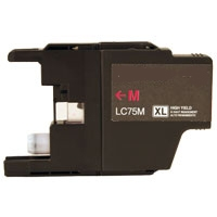 Brother LC71M / LC75M Remanufactured High Yield Ink Cartridge - Magenta