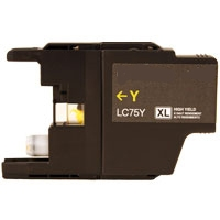 Brother LC71Y / LC75Y Remanufactured High Yield Ink Cartridge - Yellow