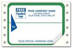 Pin-Fed Shipping Address Labels, Imprinted