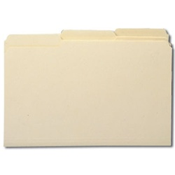 Legal Size 1/3-Cut Manila Folders, Single-Ply