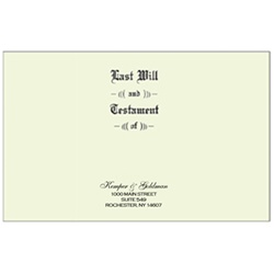 Will Covers, Legal Size, Testament Ledger