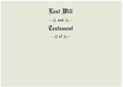 Will Covers, Letter Size, Testament Cover