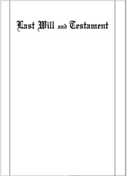 Letter Size Black Ruled Last Will & Testament Paper