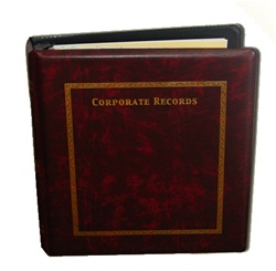 "Hamilton ""Corporate Records"" Company 3-Ring Binder"