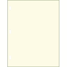 Minute Paper Letter Size 28lb., Rectangular Rod Punched Mottled Edge