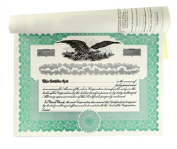 Blank Stock Certificate Book