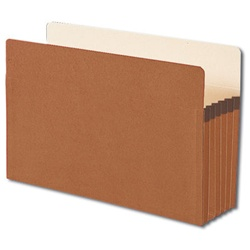 "Legal Size Redrope File Pockets, 5-1/2"" Expansion"