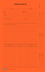 Domain Name File Folder, Orange